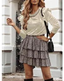 Дамска блуза в бежово - код 4948
