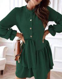 Атрактивна дамска рокля в тъмнозелено - код 2829