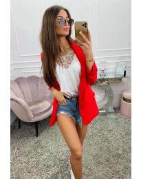 Дамско сако в червено - код 8031