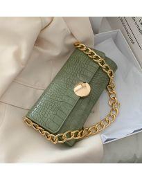 Дамска чанта в маслено зелено - код B47