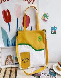 Ежедневна дамска чанта в цвят горчица - код B577