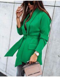 Елегантно дамско сако в светло зелено - код 1980