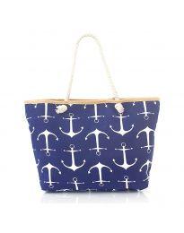 Плажна чанта в тъмно  синьо - код H-9026