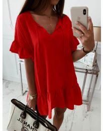 Свободна рокля в червено - код 559