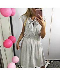 Елегантна рокля в бяло - код 701