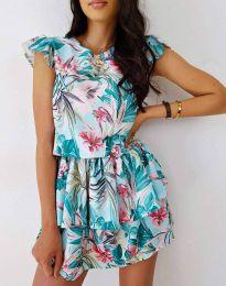 Атрактивна дамска рокля с флорален десен - код 7398 - 5