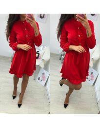 Елегантна рокля в червено - код 691