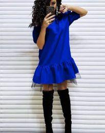 Дамска рокля в синьо - код 2856