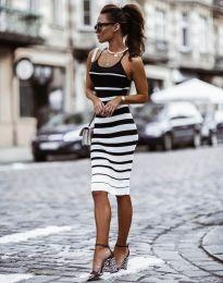 Атрактивна дамска рокля в черно - код 0998