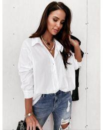 Дамска риза в бяло - код 8304