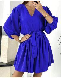 Свободна рокля в тъмносиньо - код 6210