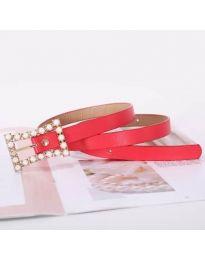 Дамски колан в червено - код P64/001