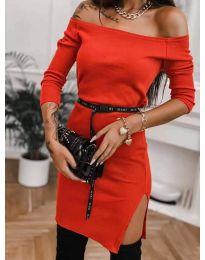 Дамска рокля в червено - код 4720