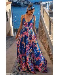 Феерична рокля с атрактивен десен - код 0404