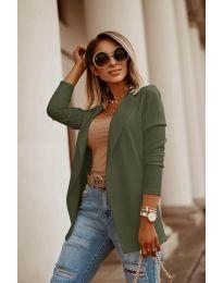 Дамско сако в маслено зелено - код 2900