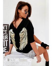 Дамска блуза в черно - код 4032
