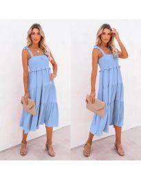 Свободна дамска рокля в светло синьо- код 7791