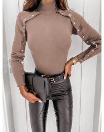 Дамска блуза в бежово - код 4179