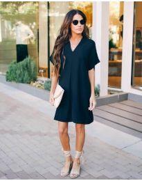 Свободна дамска рокля в черно - код 163