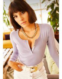 Блуза с копчета в лилаво - код 11495