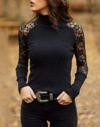 Атрактивна дамска блуза в черно - код 35288