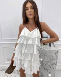 Лятна рокля в бяло - код 8190