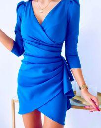 Елегантна рокля в синьо - код 32897