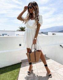 Кокетна рокля в бяло - код 6460
