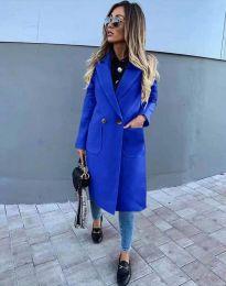 Елегантно дамско палто в синьо - код 1695