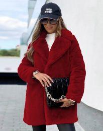 Дамско палто в в цвят бордо - код 4664