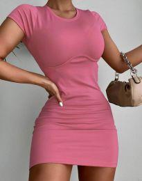 Изчистена къса рокля в розово - код 12833