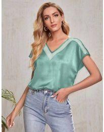 Атрактивна дамска тениска в зелено - код 5754