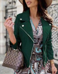 Елегантно дамско яке в тъмнозелено - код 6354