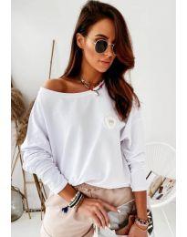 Дамска блуза в бяло - код 4026