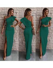 Дълга рокля по тялото в зелено - код 745