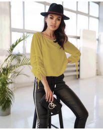 Елегантна дамска блуза в цвят горчица - код 5165