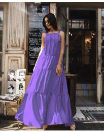 Ефирна дълга рокля в цвят лилаво - код 1105