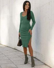 Стилна дамска рокля в зелено - код 12106