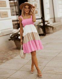 Кокетна дамска рокля в розово - код 11922