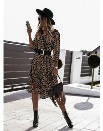 Дамска рокля с атрактивни мотиви - код 8366 - 4