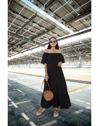 Дълга рокля в черен цвят - код 3636