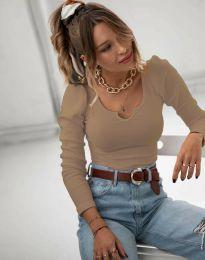 Дамска блуза в кафяво - код 11493