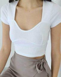 Дамска тениска в бяло - код 1280