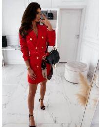Дамска рокля в  червено - код 5888