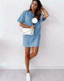 Свободна рокля в синьо - код 2231