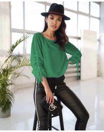 Елегантна дамска блуза в зелено - код 5165