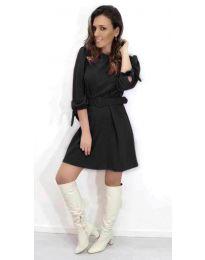 Кокетна рокля в черен цвят - код 563