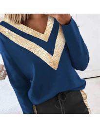 Дамска блуза в синьо - код 2190