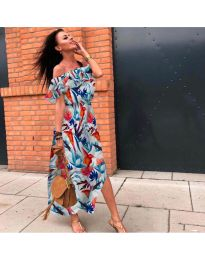 Феерична рокля с флорален десен - код 525 - 3