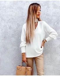 Дамска блуза в бяло - код 2133